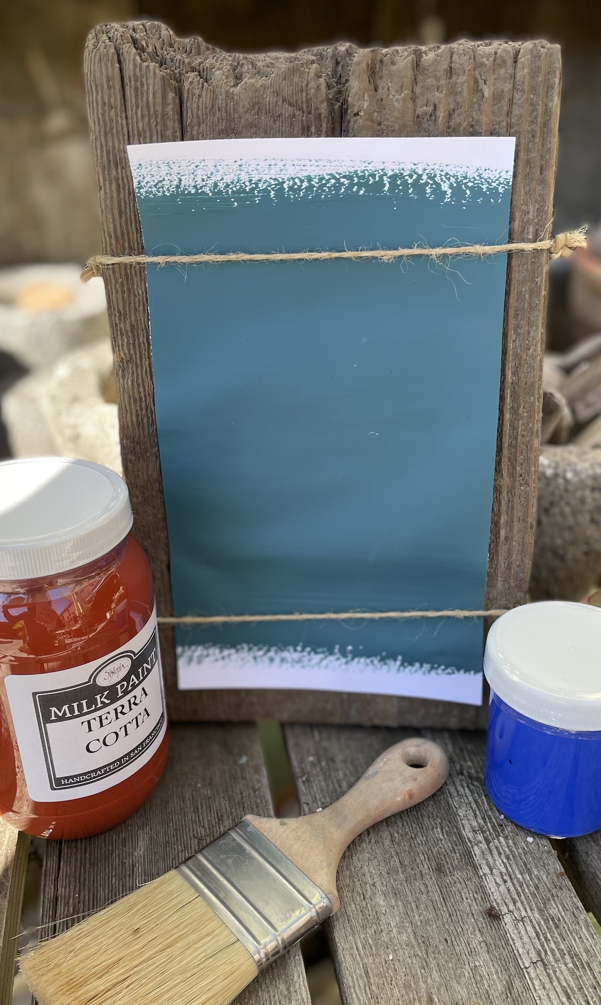 All Natural Artisanal Sinopia Milk Paint Bardini Blue