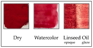 Carmine Red, warm crimson shade