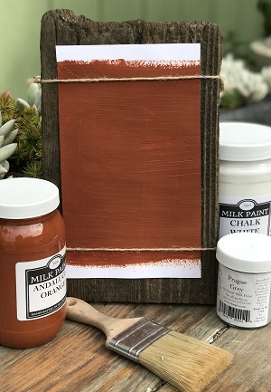 All Natural Artisanal Milk Paint (Casein) Andalucia Orange