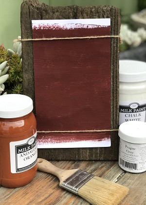 All Natural Artisanal Milk Paint (Casein) Turkish Red