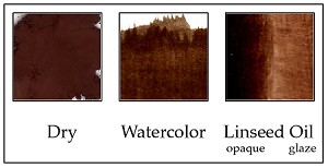 190PM10 Burnt Umber from Cyprus deep warm brown