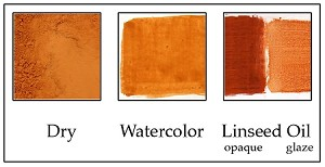 PC210RS Raw Sienna Deep Orange Shade