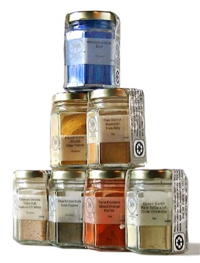 Basic Introductory Pigment Set in Glass Jars