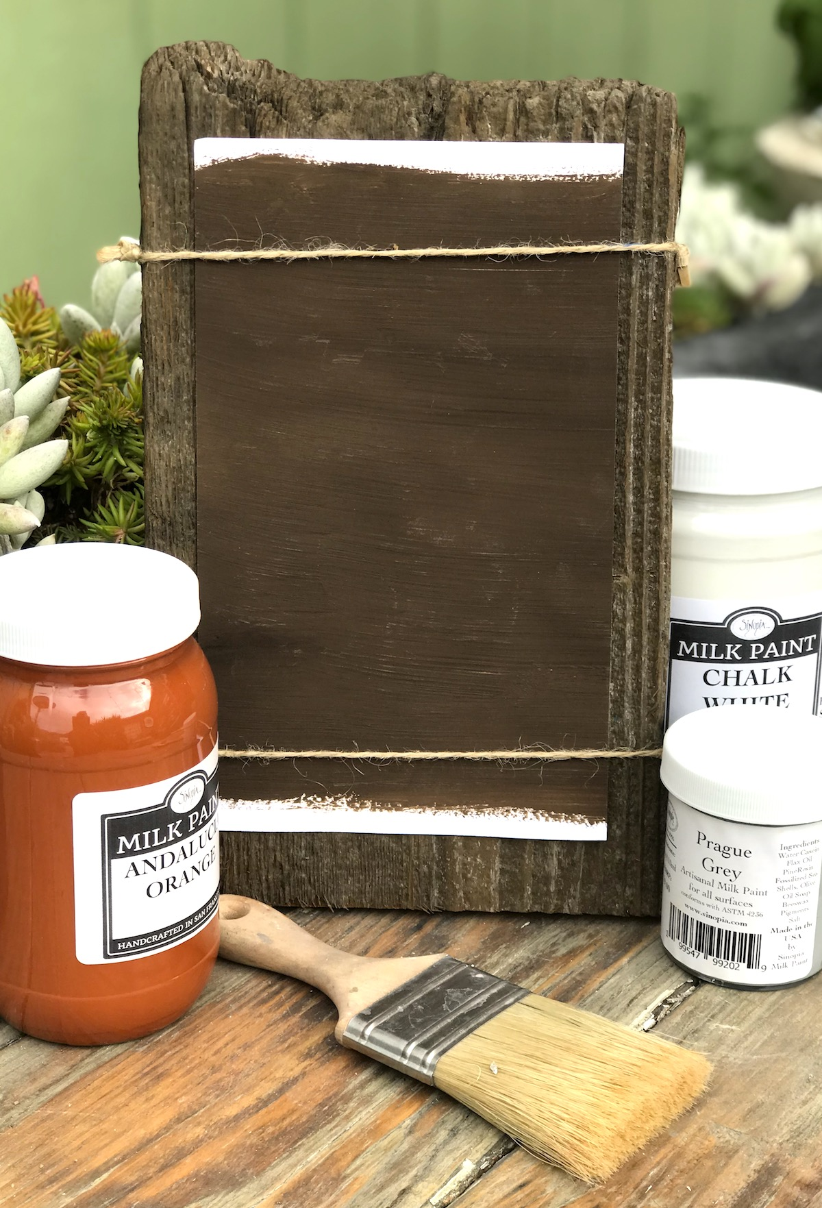 All Natural Artisanal Milk Paint (Casein) Cyprus Brown