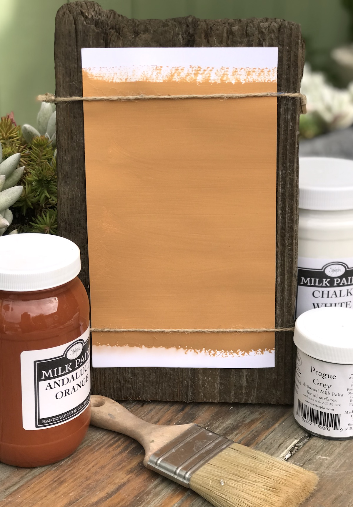 All Natural Artisanal Milk Paint (Casein) Sienna Orange