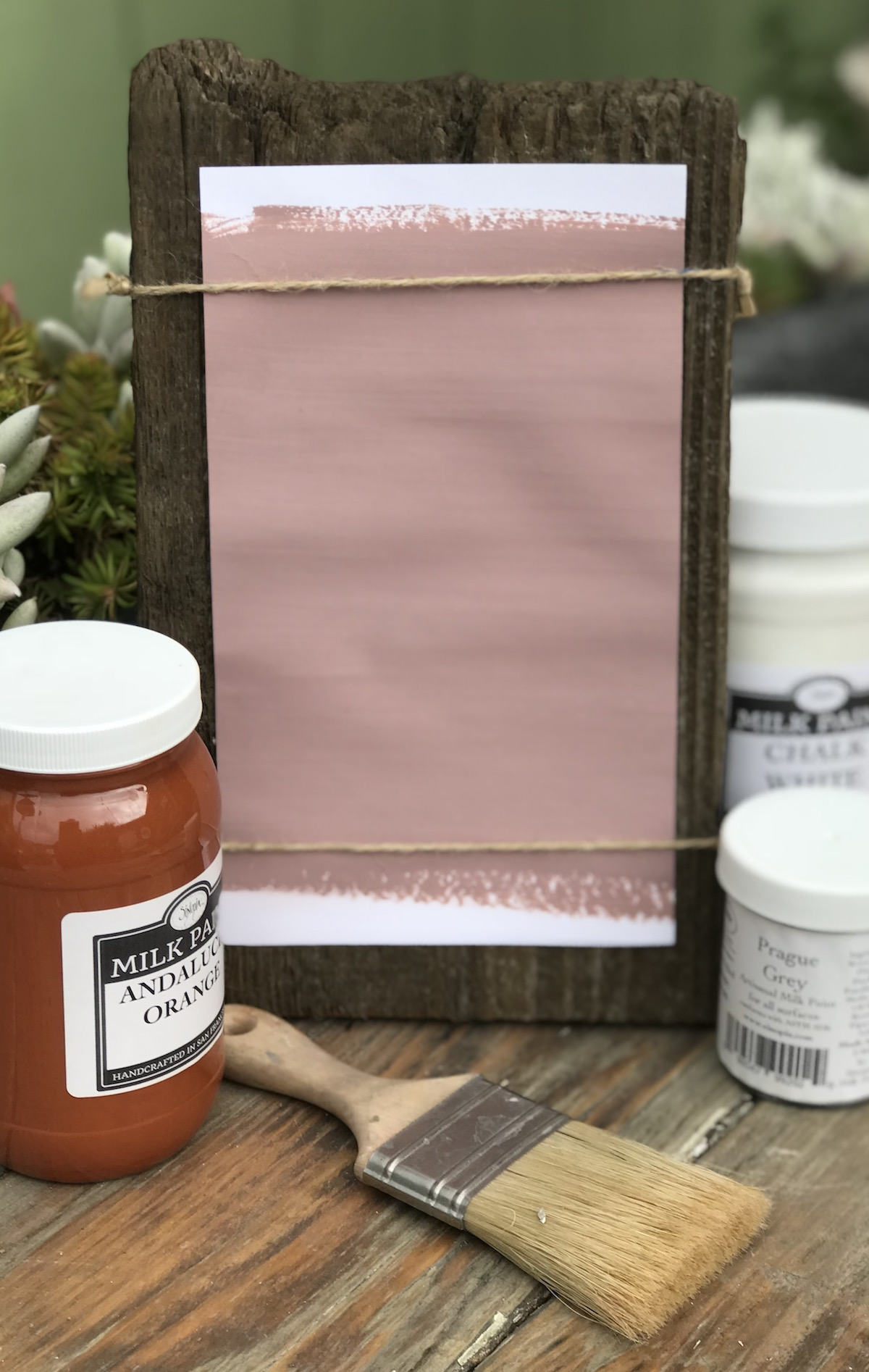All Natural Artisanal Milk Paint (Casein) Southwest Mauve