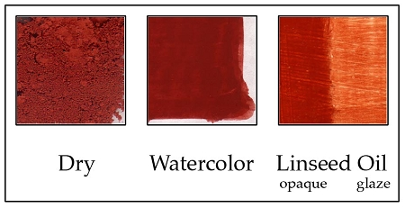 PCHR1201 Iron Oxide Red Light, Blood Stone Red